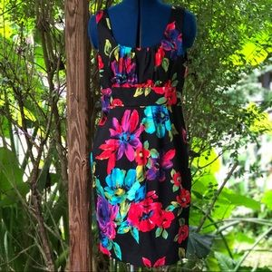 Spense | Black Floral Sheath Dress